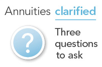 Annuities clarified. Three questions to ask. Download worksheet.